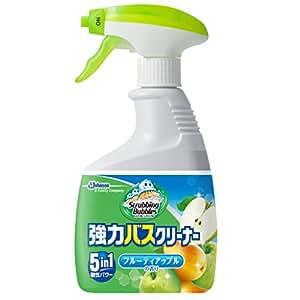 スクラビングバブル 浴室・浴槽洗剤 強力バスクリーナー フルーティアップルの香り 本体 400ml