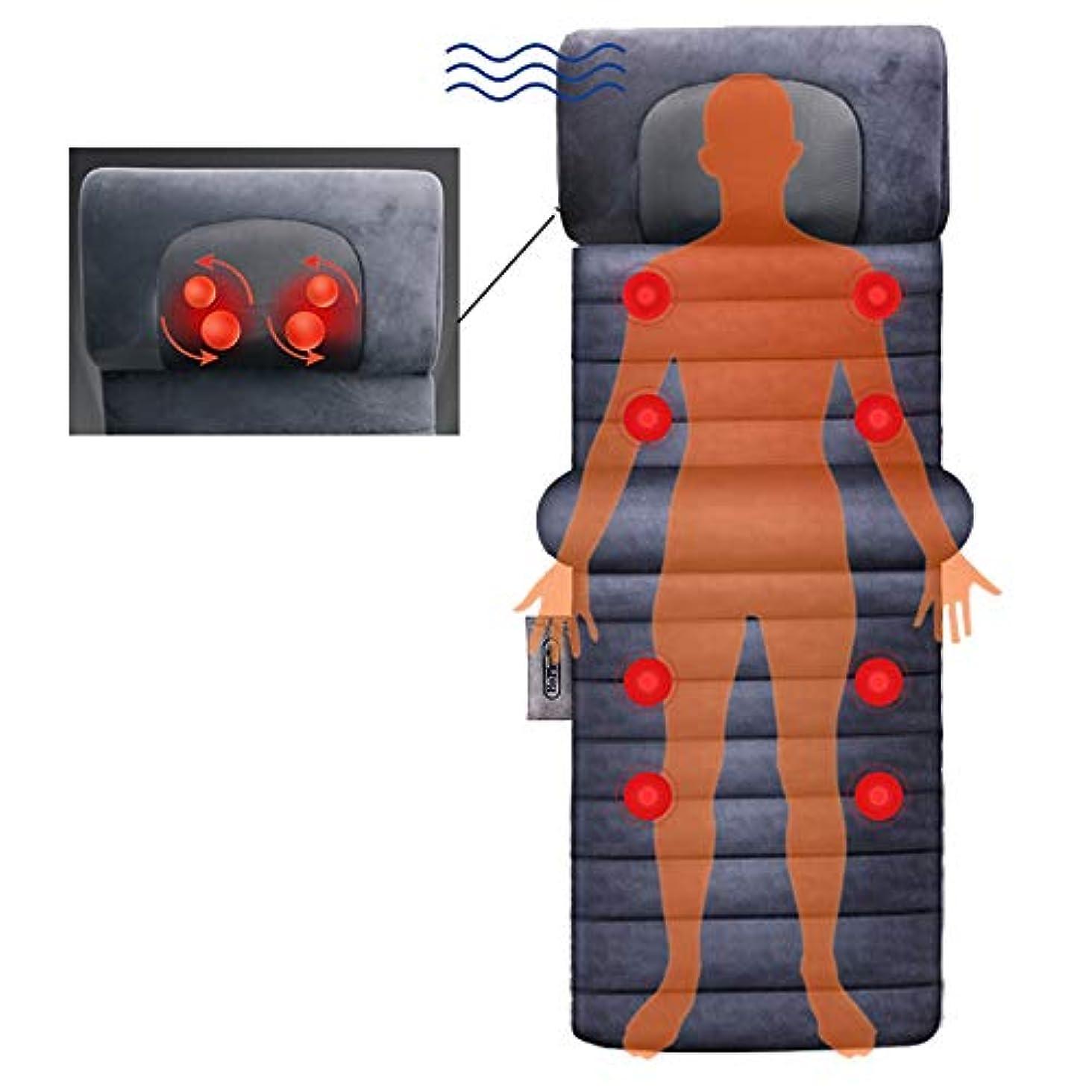寄り添うほこりっぽいアセンブリマットレス遠赤外線暖房セラピーネック背中のマッサージリラクゼーションベッドマッサージフルボディマッサージマットエレクトリックバイブレーター