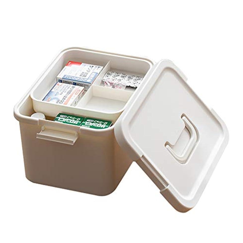 滑る百年ムス携帯用救急箱、家のための耐久の医学の収納容器、旅行ワークステーション