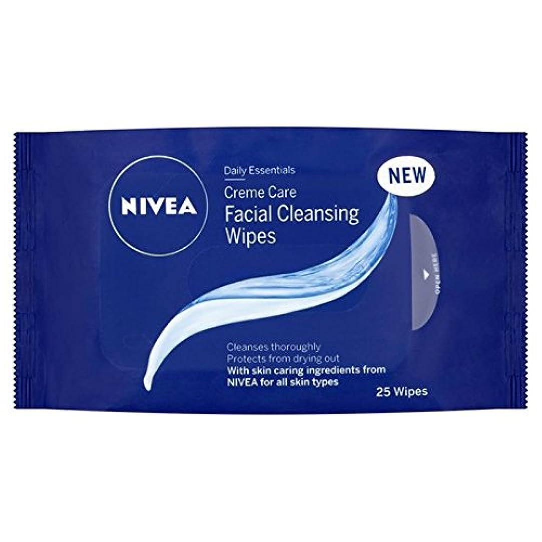 アラスカ競合他社選手平衡ニベアの必需品クリームケアパックあたり25ワイプ x4 - Nivea Essentials Creme Care Wipes 25 per pack (Pack of 4) [並行輸入品]