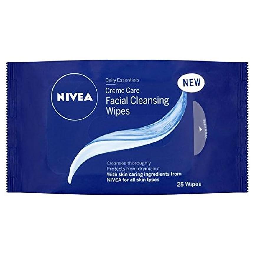 パーフェルビッド公平揃えるNivea Essentials Creme Care Wipes 25 per pack (Pack of 6) - ニベアの必需品クリームケアパックあたり25ワイプ x6 [並行輸入品]