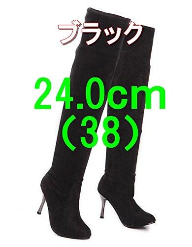 (スプリングスワロー) SpSw 履き方いろいろ シンプル ストレッチ ロングブーツ シルエットすっきり (38(24.0))