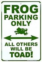 なまけ者雑貨屋 Frog Parking Only ブリキ看板 ガレージ アメリカン ホットロッド メタルプレート レトロ アンティーク 復古調 ブリキ看板 ガレージ アメリカン 復刻版 アンティーク風 雑貨 おしゃれ インテリア
