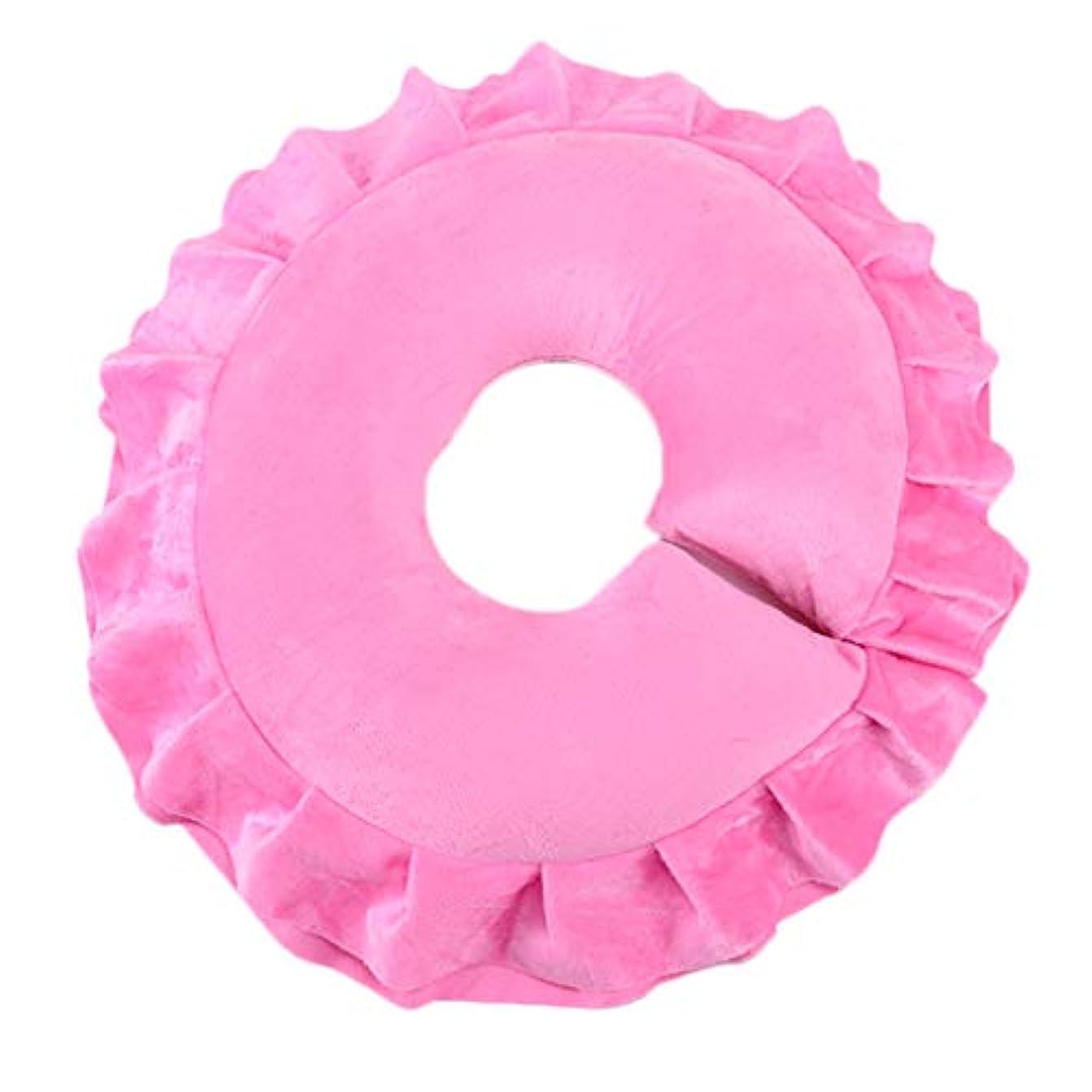 ネックレットエキスパート虚栄心顔枕 マッサージ用 フェイスピロー 枕 フェイスクッション ソフト マッサージ クッション 全4色 - ピンク