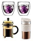 BODUM ボダム 2020 福袋 ダブルウォールグラス、フレンチプレスコーヒーメーカー、トラベルマグ ホワイト K103739-XYJ-2020