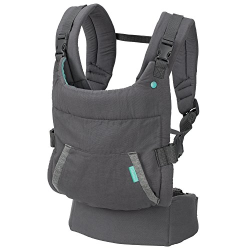 Infantino Cuddle Up Ergonomic Hoodie Carrier, Grey