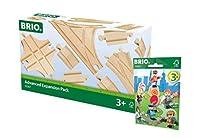 Ravensburger Brio Railway Set 33307レール、ソフトレンジ33829 1xコンパクトフィギュアパックシリーズ1