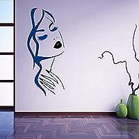 Hnzyfネイルアートサロン壁デカールハンドガールフェイスウォールステッカーマニキュアネイルショップデコレーション美容院ヘアスタイル壁画42×97cm