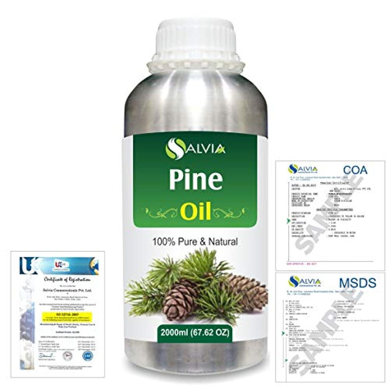 感謝祭キャンパス落胆するPine (Pinus Sylvestris) 100% Natural Pure Essential Oil 2000ml/67 fl.oz.