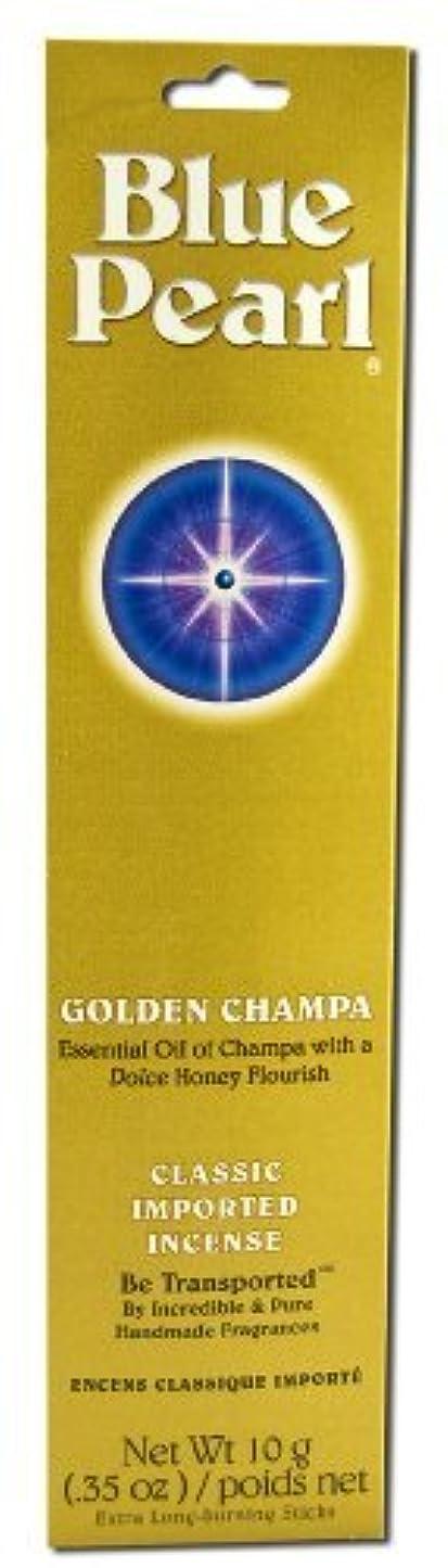 カバー武器友だちBlue Pearl Incense Golden Champa 10 grams (Pack of 5) [並行輸入品]