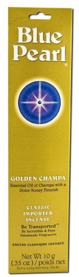 正規化少数スリンクBlue Pearl Incense Golden Champa 10 grams (Pack of 5) [並行輸入品]