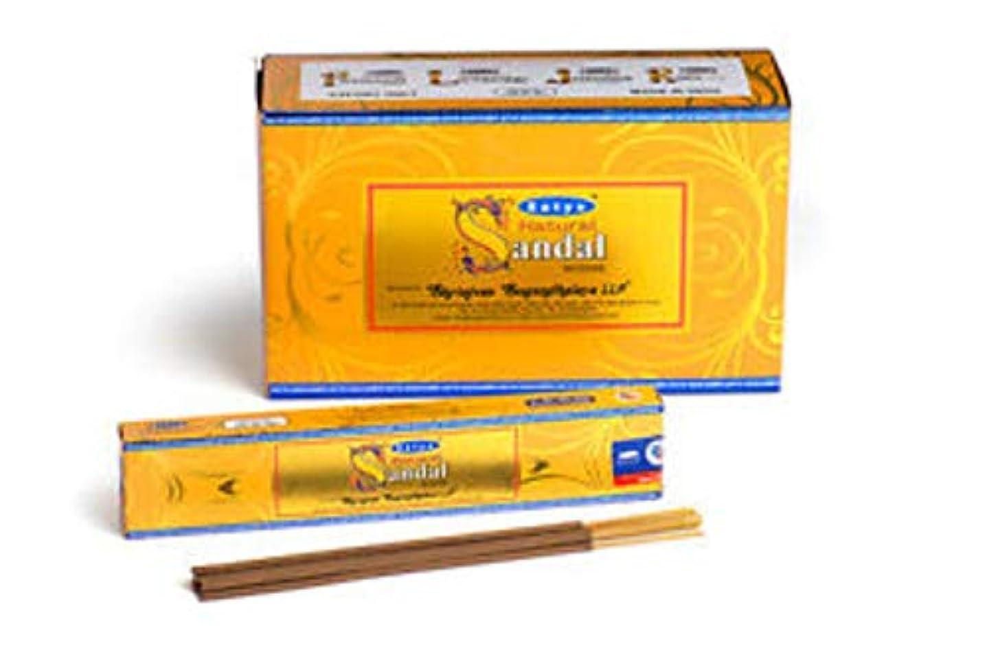 グラスあまりにも現象自然Chandan Incense Sticks – 値パック – 12ボックスの15グラム各 – by Satya Nag Champa