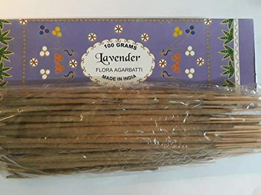 違反する布日付Lavender ラベンダー Agarbatti Incense Sticks 線香 100 grams Flora Incense Agarbatti フローラ