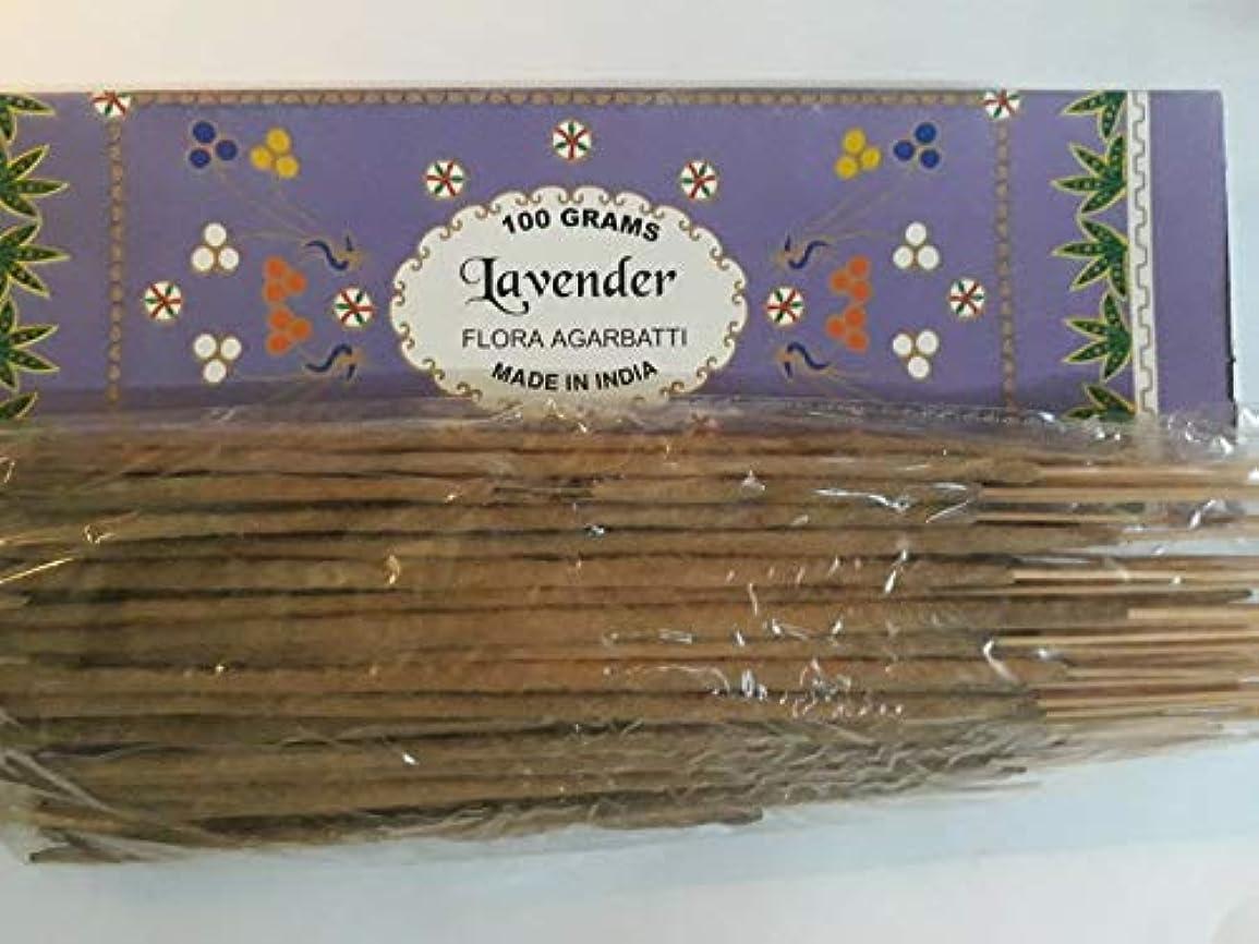 新聞マラソンユーモアLavender ラベンダー Agarbatti Incense Sticks 線香 100 grams Flora Incense Agarbatti フローラ