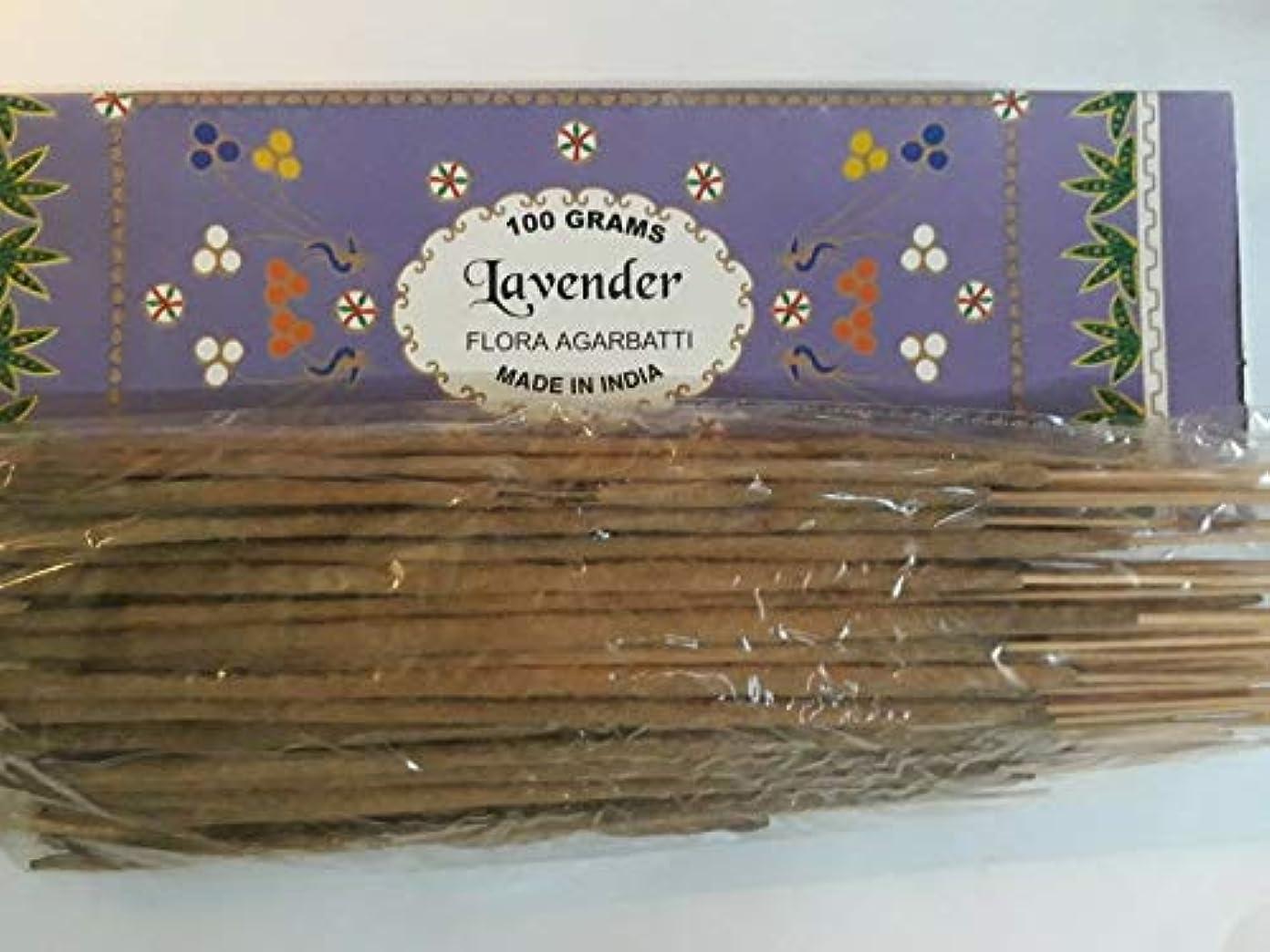 醜い受け皿ブラウズLavender ラベンダー Agarbatti Incense Sticks 線香 100 grams Flora Incense Agarbatti フローラ