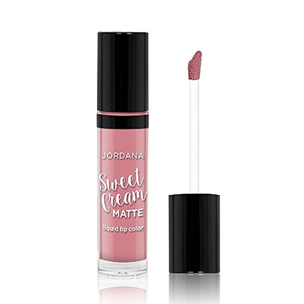 軽減タイトル未亡人JORDANA Sweet Cream Matte Liquid Lip Color Creme Brulee (並行輸入品)