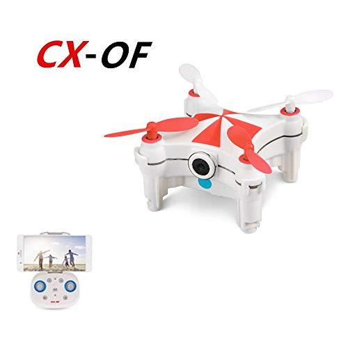 CHAOYILIU ミニ飛行機ドローン カメラ付き 小型 ミニドローン cx-of ラジコン 高度維持 高画質 iPhone&Android対応 (赤)