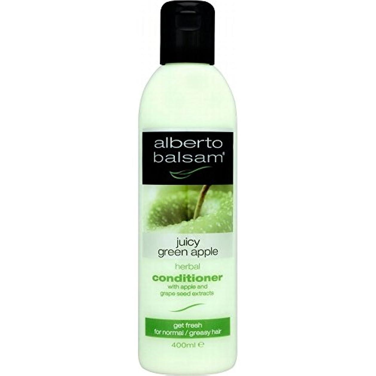 誰のガラガラ海嶺Alberto Balsam Herbal Conditioner - Juicy Green Apple (400ml) アルベルトバルサムハーブコンディショナー - ジューシーな青リンゴ( 400ミリリットル) [並行輸入品]