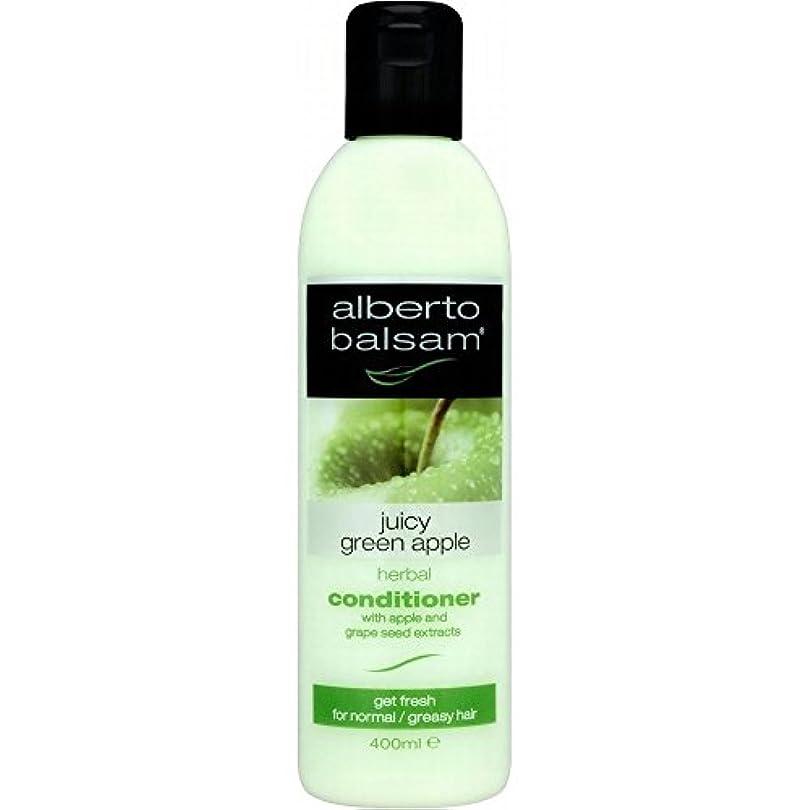 愛人ピストンそよ風Alberto Balsam Herbal Conditioner - Juicy Green Apple (400ml) アルベルトバルサムハーブコンディショナー - ジューシーな青リンゴ( 400ミリリットル) [並行輸入品]