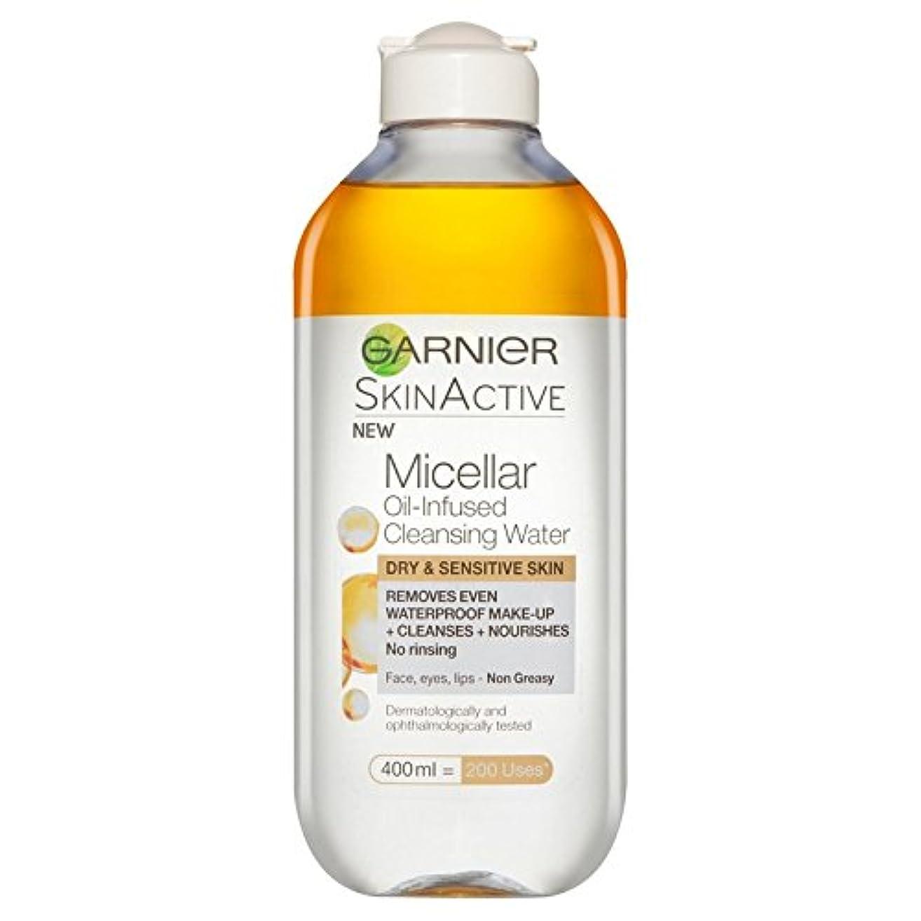 フレームワーク楽しい即席ガルニエ肌ナチュラルミセル油注入された水 x4 - Garnier Skin Naturals Micellar Oil Infused Water (Pack of 4) [並行輸入品]