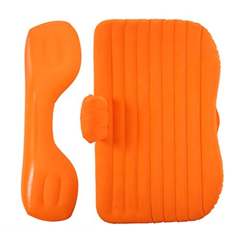 汚い前部岩エアベッド - カーインフレータブルベッドカーマットレスリアトラベルベッドセダンリアシートSuvスリーピングマットエアクッションカーベッド アウトドアレジャー用品 (Color : Orange)