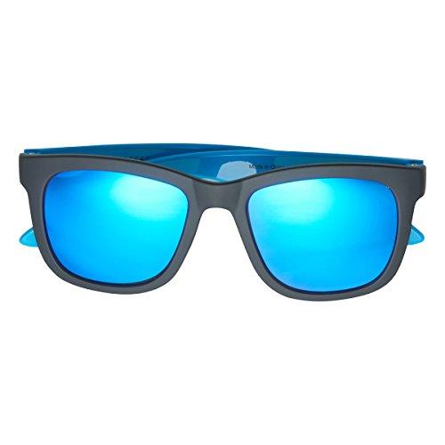 サングラス メンズ レディース HeleiWaho ヘレイワホ ウェリントン型 UVカット ミラーサングラス 日焼け防止 シュノーケリング サーフィン 海水浴 フェスドライブ スポーツ