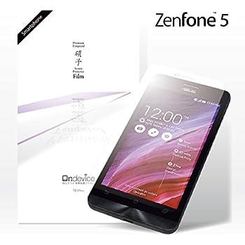 ASUS ZenFone 5 (A500KL) 国産ガラス採用 強化ガラス製 液晶保護フィルム ガラスフィルム 厚さ0.33mm 2.5D 硬度9H ラウンドエッジ加工 エイスース on-device 【国内正規流通品】