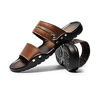 ビーチサンダル メンズ コンフォートサンダル ローマ スリッパ スタッズ 夏 ジッパー 革靴 大きいサイズ 紳士靴 ビジネスサンダル オシャレ アウトドア 旅行 滑り止め 軽い スポーツサンダル 24.5-27.0cm