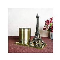 LANYAOWEN デスク装飾、エッフェル塔クリエイティブペンホルダー、合金クラフトギフト、アンティーク建築モデル装飾、部屋装飾、タワーペンホルダー (Color : B)