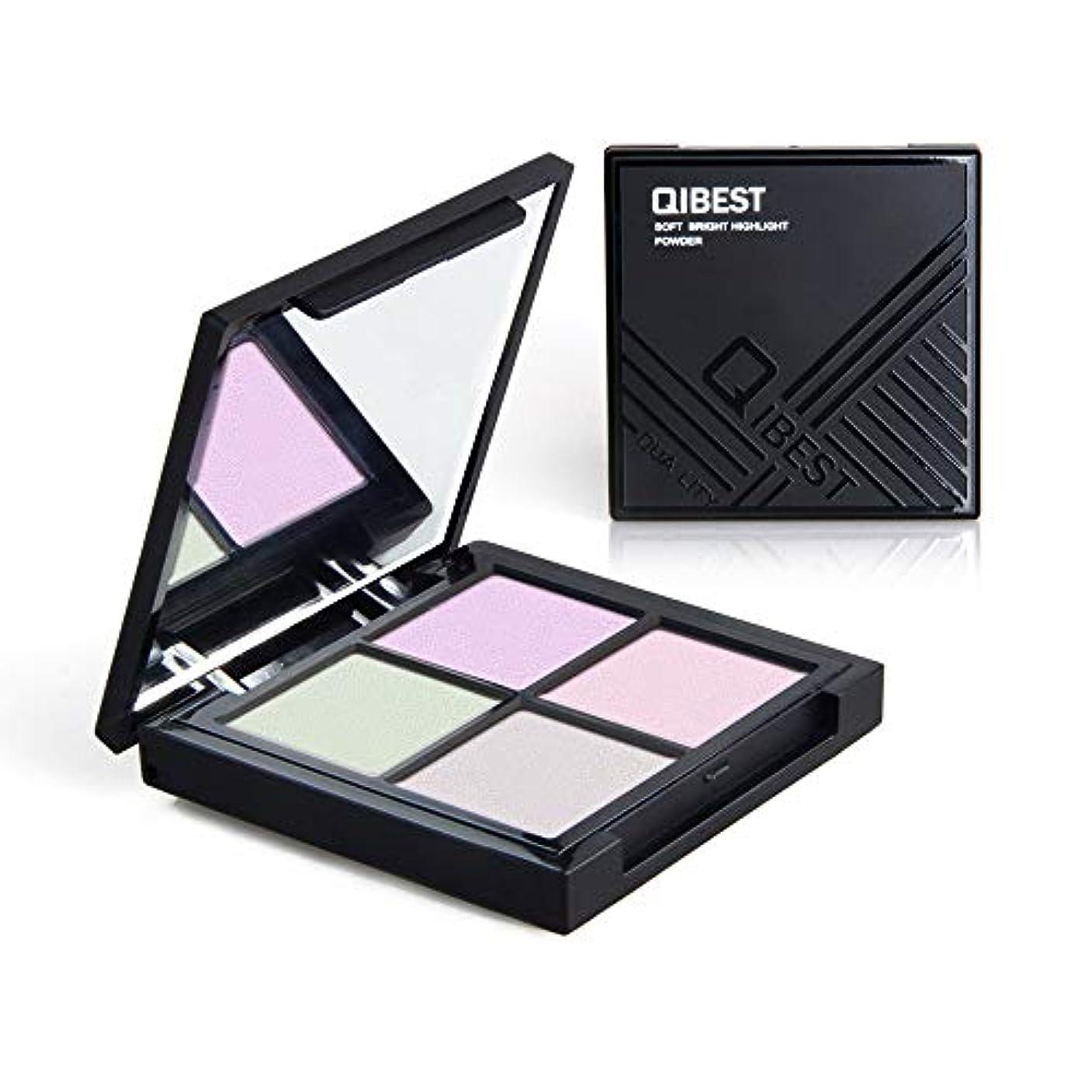 奨励しますスポット巻き取りAkane アイシャドウパレット QIBEST 魅力的 可愛い 人気 気質的 チャーム 防水 長持ち おしゃれ 綺麗 ハイライト キラキラ 持ち便利 Eye Shadow (4色) F18018