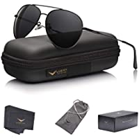 LUENX Aviator Sunglasses Polarized Men :UV 400 Protection 59MM Fashion Style, Driving