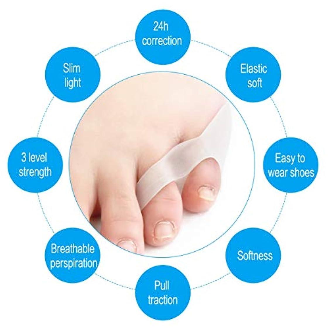 パーフェルビッドスケート概して2pcs Silicone Braces & Supports Small Toe Spreader Eases Foot Pain Finger Toe Guard Cushion Correction Health...