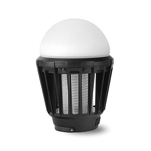 ランタン 電撃殺虫器 LEDライト 1台2役 防水 UV光源誘引式 薬剤不要 USB充電式 吊るす可 赤ちゃんやペットにも安心 蚊取りと照明両用 USB充電式 屋外 室内 ガーデン キャンプ アウトドア