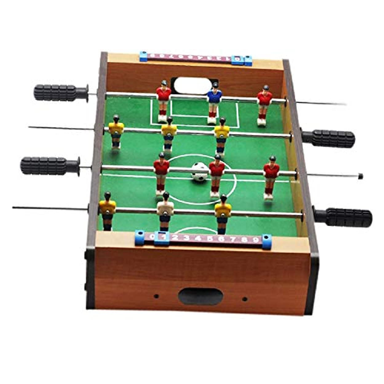 テーブルゲームDIYの小型フットボールのセット、木の空想のおもちゃ解放圧力