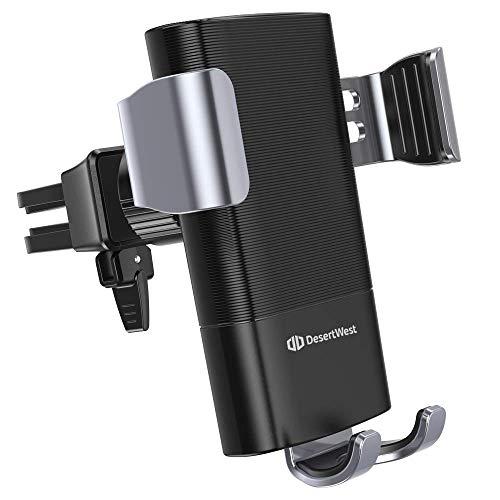 DesertWest Qi 車載ワイヤレス充電器 スマホ 急速充電対応可能 オートホールド式 車載ホルダー 安定性抜群 【Qi認証済み】 無線充電 10W/5W エアコン吹き出し口式 iPhoneXs Max/Xs/Xr/8/8 Plus/GalaxyS9/S9+/S8/S8/sony-xperia XZ 2/ XZ3 + その他Qi対応機種