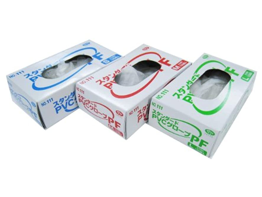 本質的に扱いやすい開梱使い捨て手袋 エブノNO.111スタンダードPVCグローブ 粉無※白L 100枚X30箱 3000枚