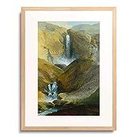 カスパル・ヴォルフ Wolf, Kaspar 「The Geltenschuss Waterfall in the Lauenen Valley. 1777.」 額装アート作品