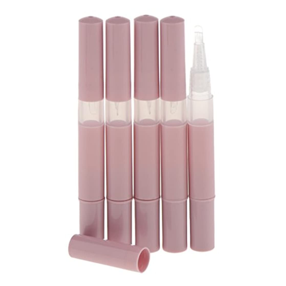 サスティーンどこか専門化するKesoto 5個 化粧品容器 空チューブ  3ml ネイルオイルペン リップグロスチューブ 旅行 化粧品コンテナ 5色選べる - ピンク