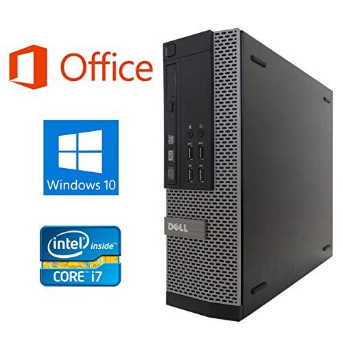 【Microsoft Office 2016搭載】【Win 10搭載】DELL 7010 第三世代Core i7-3770 3.4GHz 新品メモリー:16GB 新品SSD:480GB DVDスーパーマルチ 無線搭載 USB 3.0 新品キーボードマウス 中古デスクトップパソコン (新品SSD:480GB)