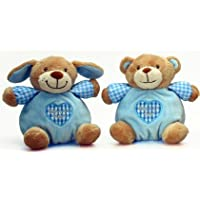 Keel Toys Baby's First Puppy Puffball Blue 15cm by Keel Toys