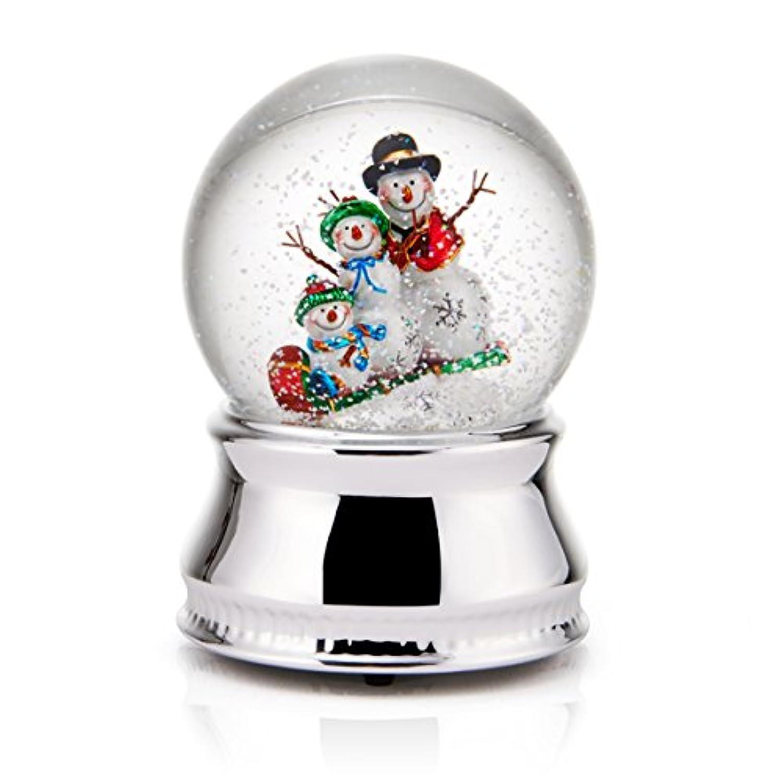 Celebrations By Mikasa Snowman Family Water Globe