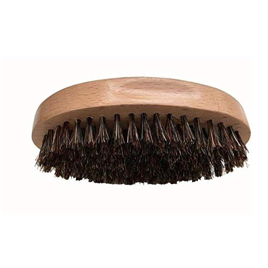 民間人アノイキャンドルシェービングブラシ 男性 口ひげ ひげブラシ ラウンド櫛 メンズシェービングツール 理容 洗顔 髭剃り 泡立ち