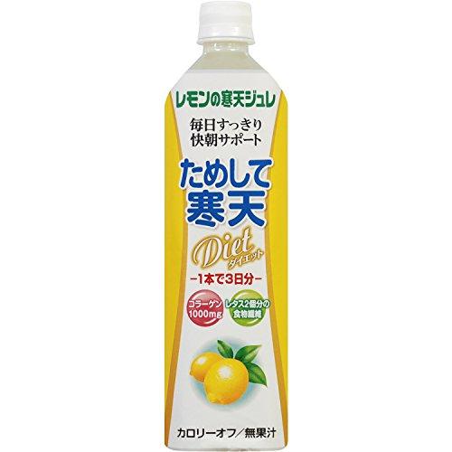 ためして寒天 レモン風味 900mlペットボトル×12本入×(2ケース)