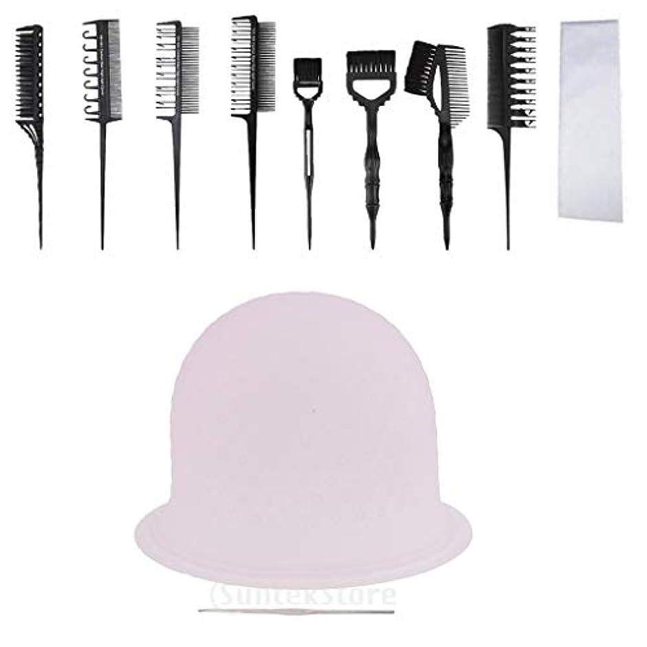 市の中心部美的熟練したヘアカラー 色合いブラシ 着色紙 ヘアティントキャップ プロの美容師