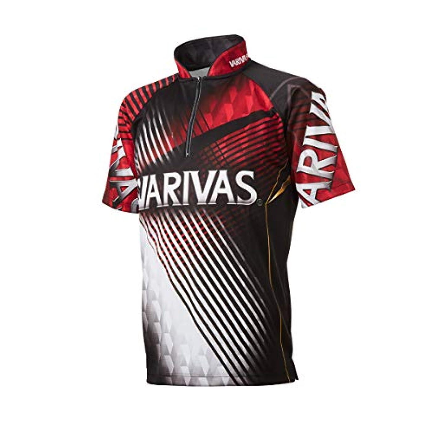 約束する反逆ベッドVARIVAS(バリバス) ドライジップシャツ半袖 VAZS-22