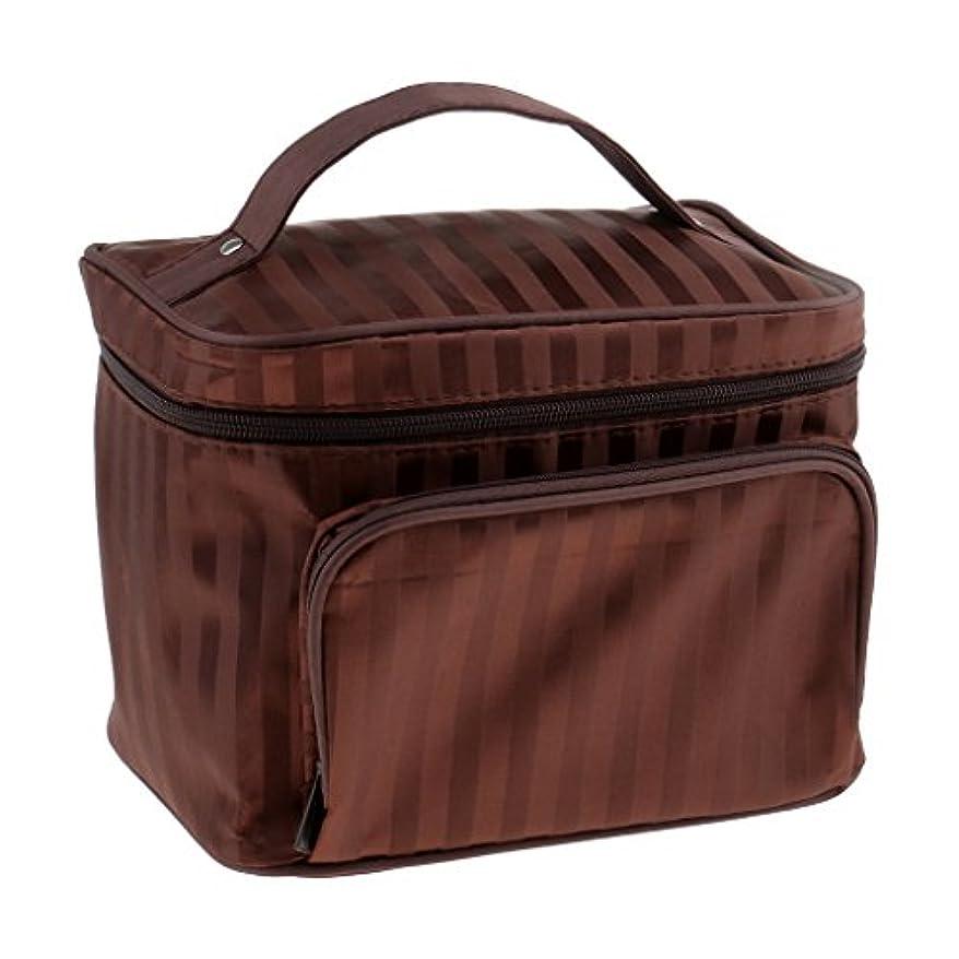 ベースカウボーイバターメイクアップバッグ 化粧品バッグ 化粧品 コスメ メイクアップ メイクボックス 化粧ポーチ 5色選べる - コーヒー