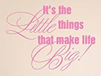 "Vinylsay It's the little things that make life big! Wall Decal, 15""x 11%・・橸セ鯉セ橸セ呻スク・ォ・ー・・, Matte Light Pink [並行輸入品]"