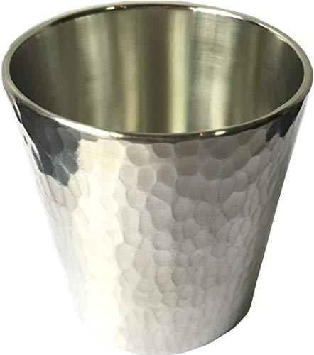 薩摩錫器 ロックグラス 250ml (槌ストレート) ロックが美味しい 錫 (スズ) 酒器 伝統工芸品 工房直送
