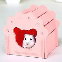 YUEHAO ペットハウス ハムスターハウス DIY ハムスター用品 小動物 家 巣 ペット用品 掃除便利