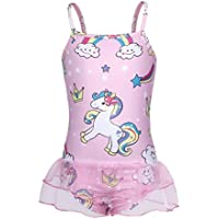 Cotrios Unicorn Swimsuit Girls One Piece Bathing Suit Swimwear Toddlers Kids Bikini Tankini